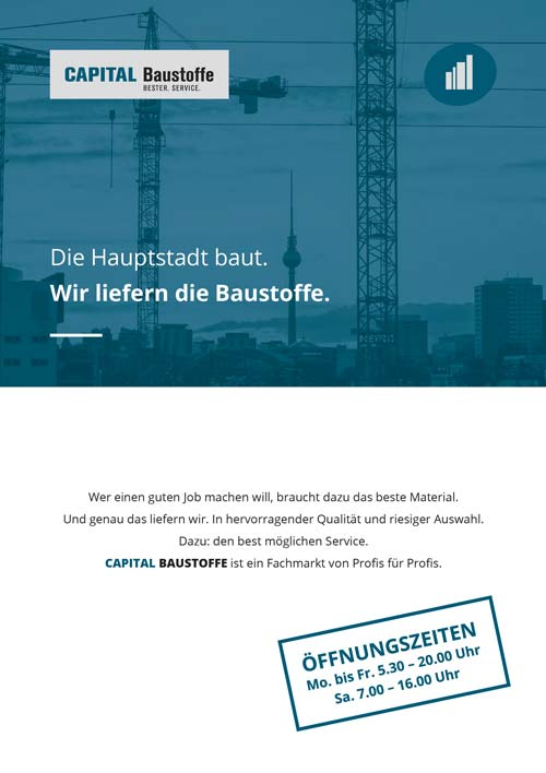Capital Baustoffe Broschüre