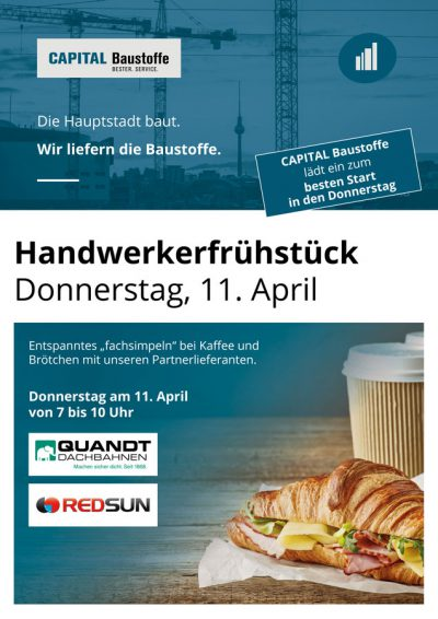 Capital Baustoffe Handwerkerfrühstück April 2019