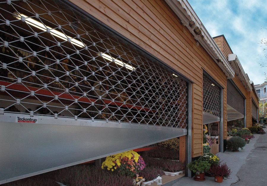 Teckentrup Rollgittertor Einzelhandel-Tiefgarage