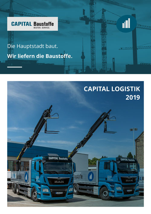 Capital Baustoffe Logistikbroschüre