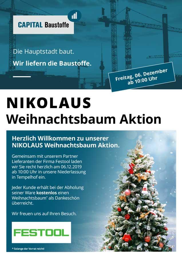 Nikolaus Weihnachtsbaumaktion am 6. Dezember